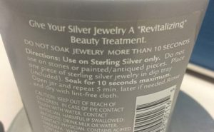 Chemicals for cleaning dirty jewelry