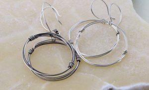 Dirty jewelry - silver earrings